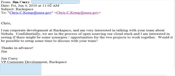 Rack-to-NASA-email
