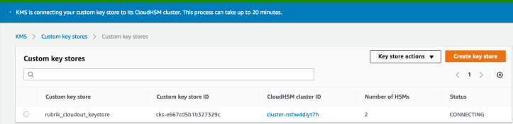 Using AWS KMS Custom Key Store with CloudHSM to Encrypt Your Data